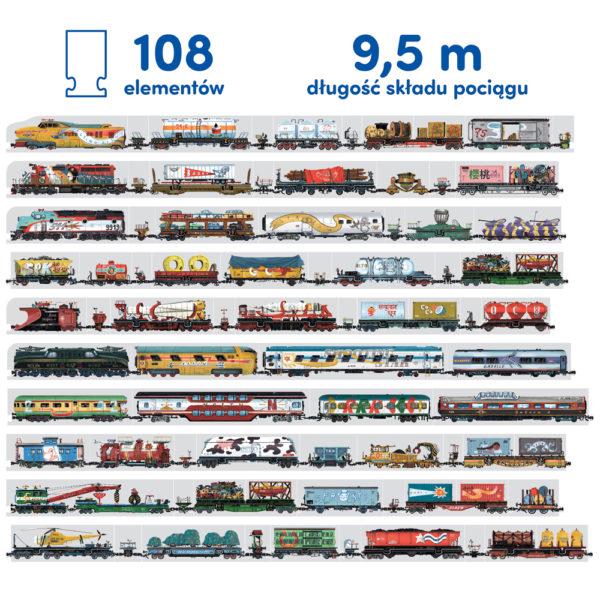najdłuższy puzzlowy pociąg