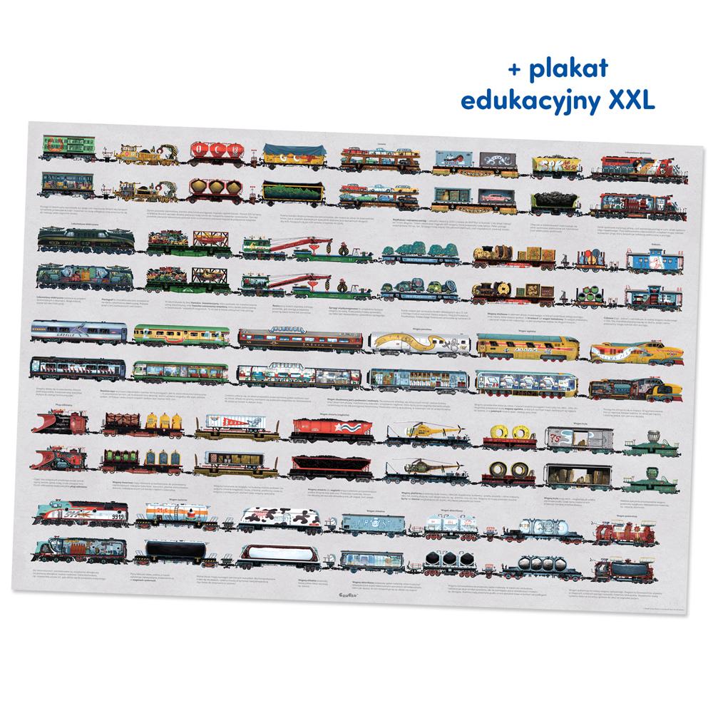Plakat XXL z pociągami
