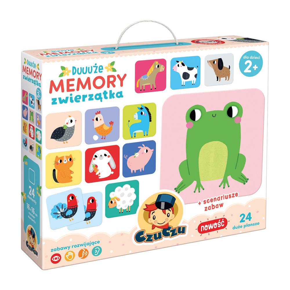 CzuCzu Duuuże memory Zwierzątka 2+