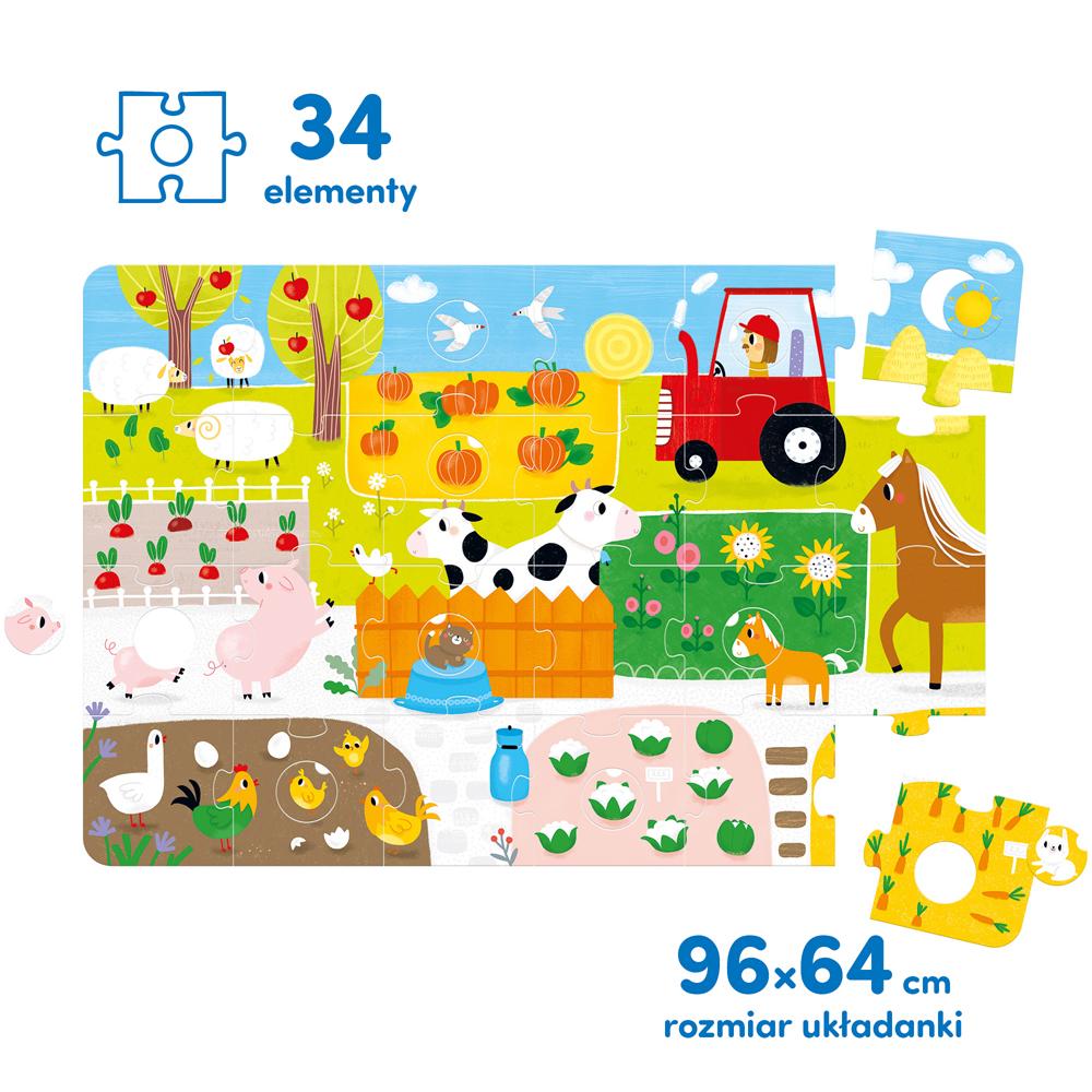 wielkie puzzle wieś z wymiennymi kółeczkami