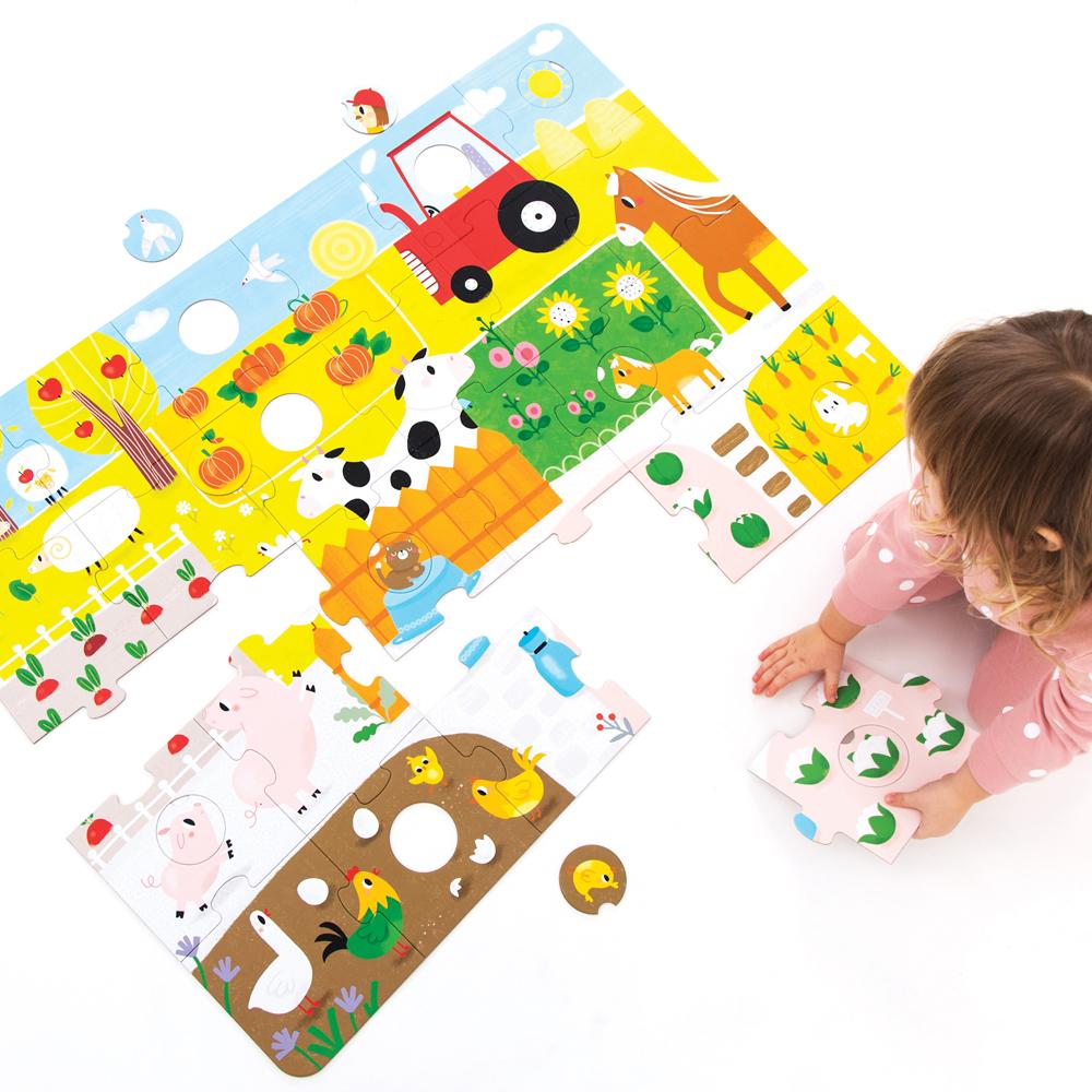 edukacyjne ulubione puzzle 2 latka