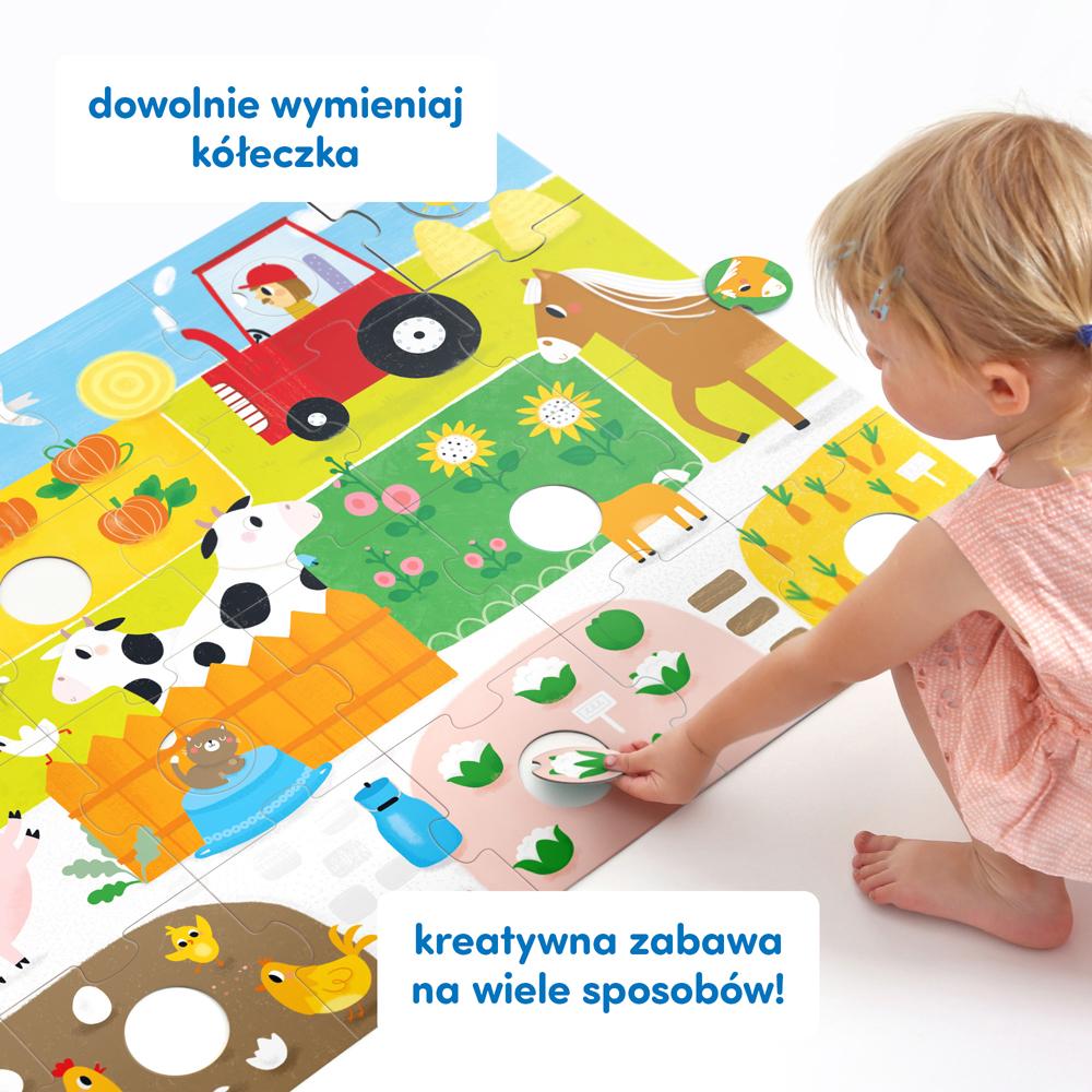 Puzzle podłogowe wieś i traktor dla maluchów