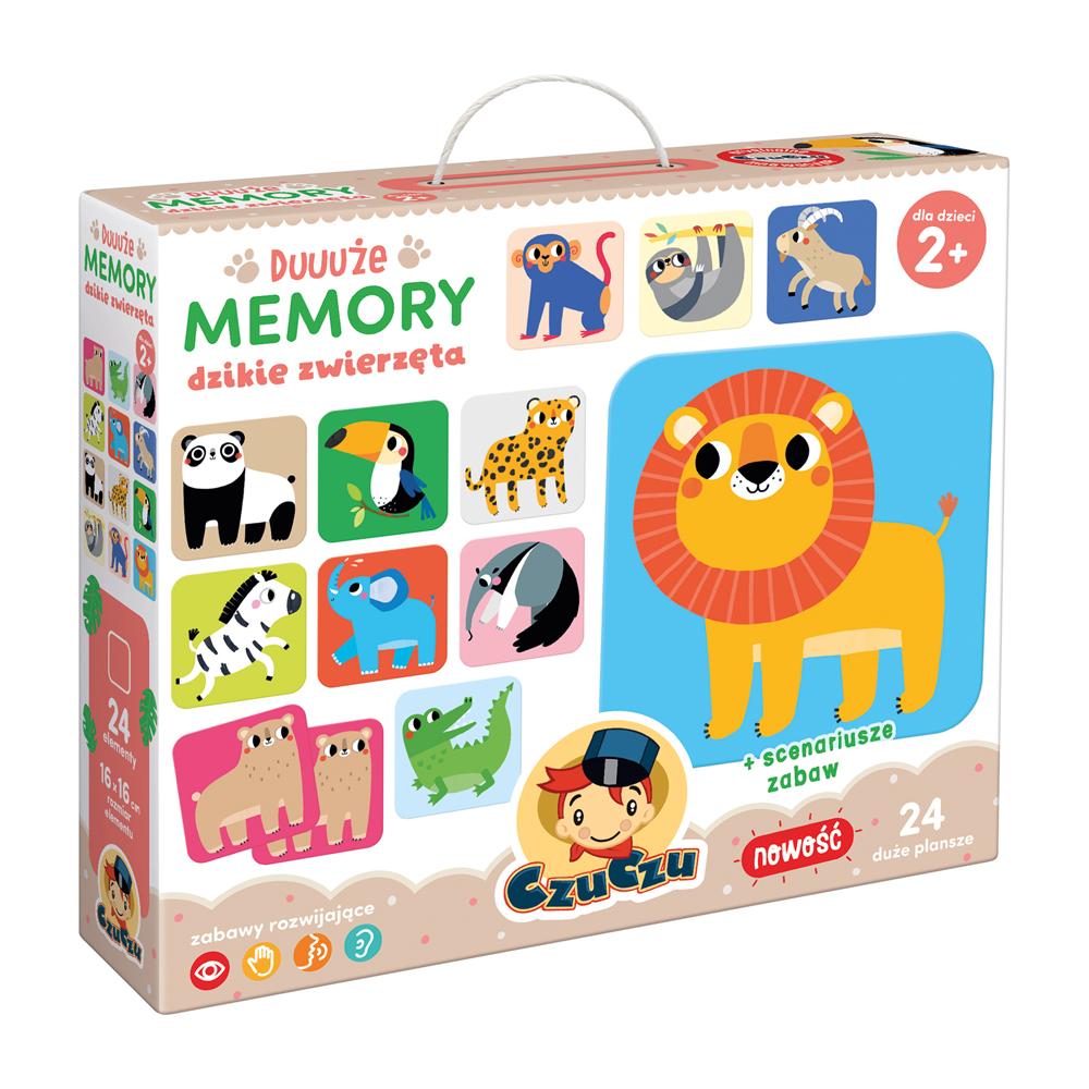 CzuCzu Duuuże memory Dzikie zwierzęta 2+