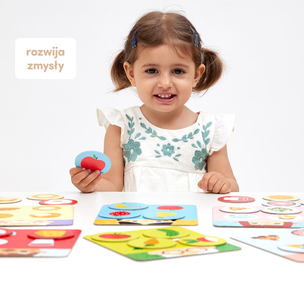 zabawa z czuczulotto smacznego rozwija zmysły dziecka