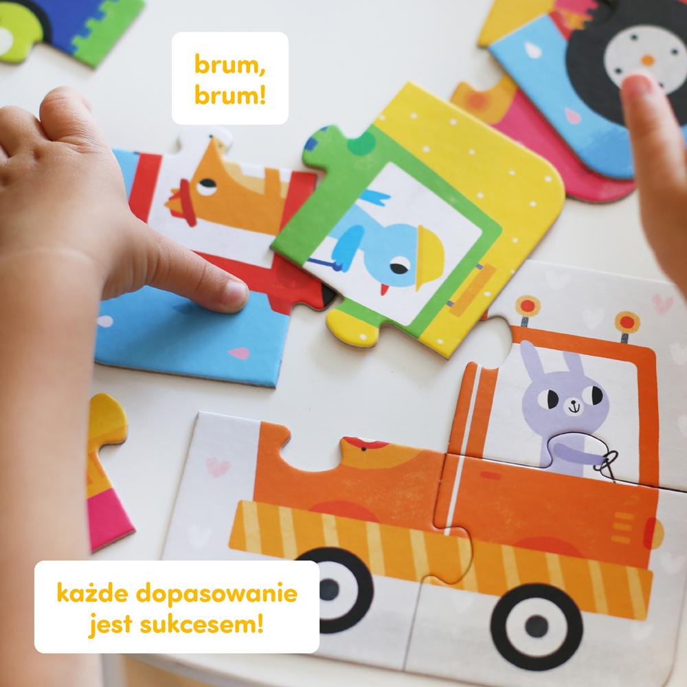 puzzle dla maluchów z pojazdami