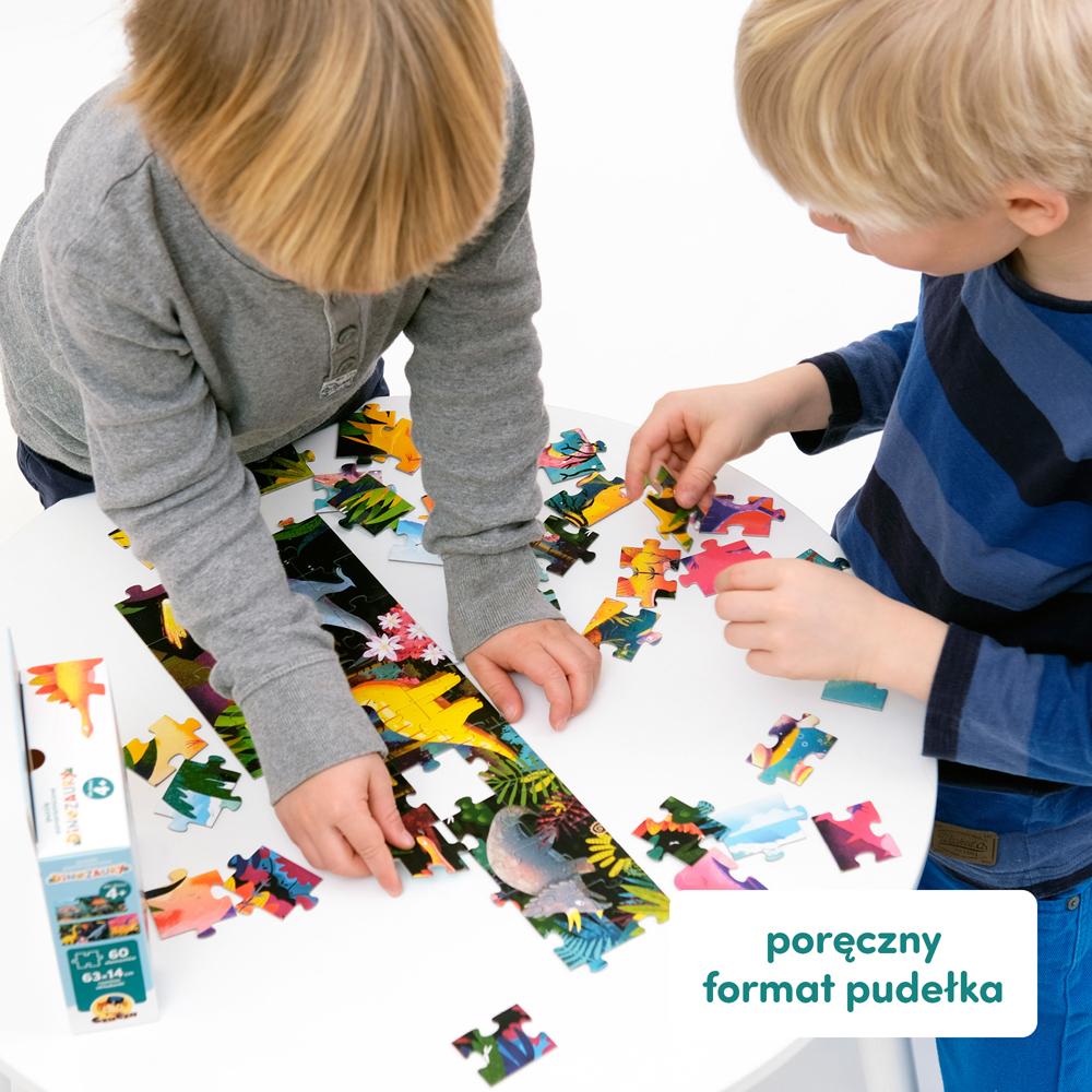 poręczne puzzle dinozaury