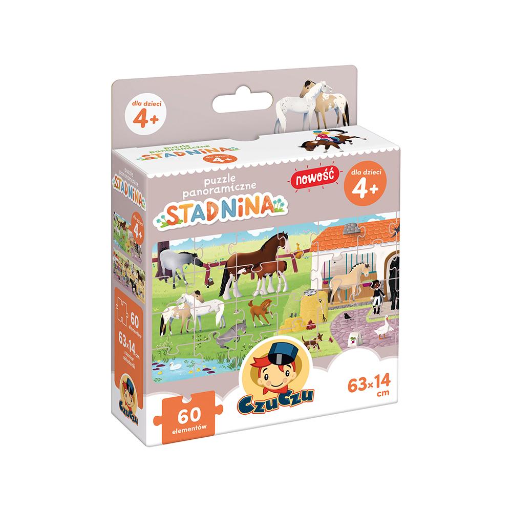 puzzle panoramiczne stadnina koni CzuCzu