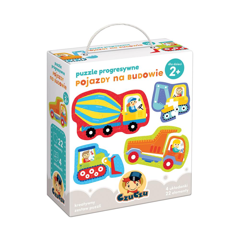 CzuCzu puzzle progresywne pojazdy na budowie