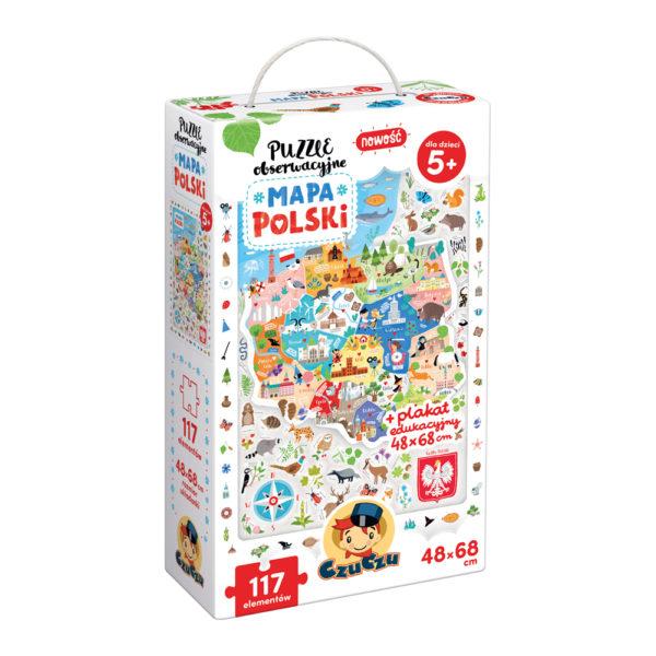 CzuCzu Puzzle obserwacyjne Mapa Polski 5+