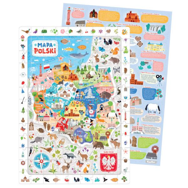 mapa polski dla dzieci i plakat dekoracyjny