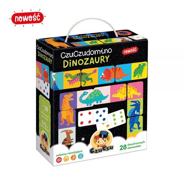 CzuCzu gra domino z dinozaurami dla dzieci