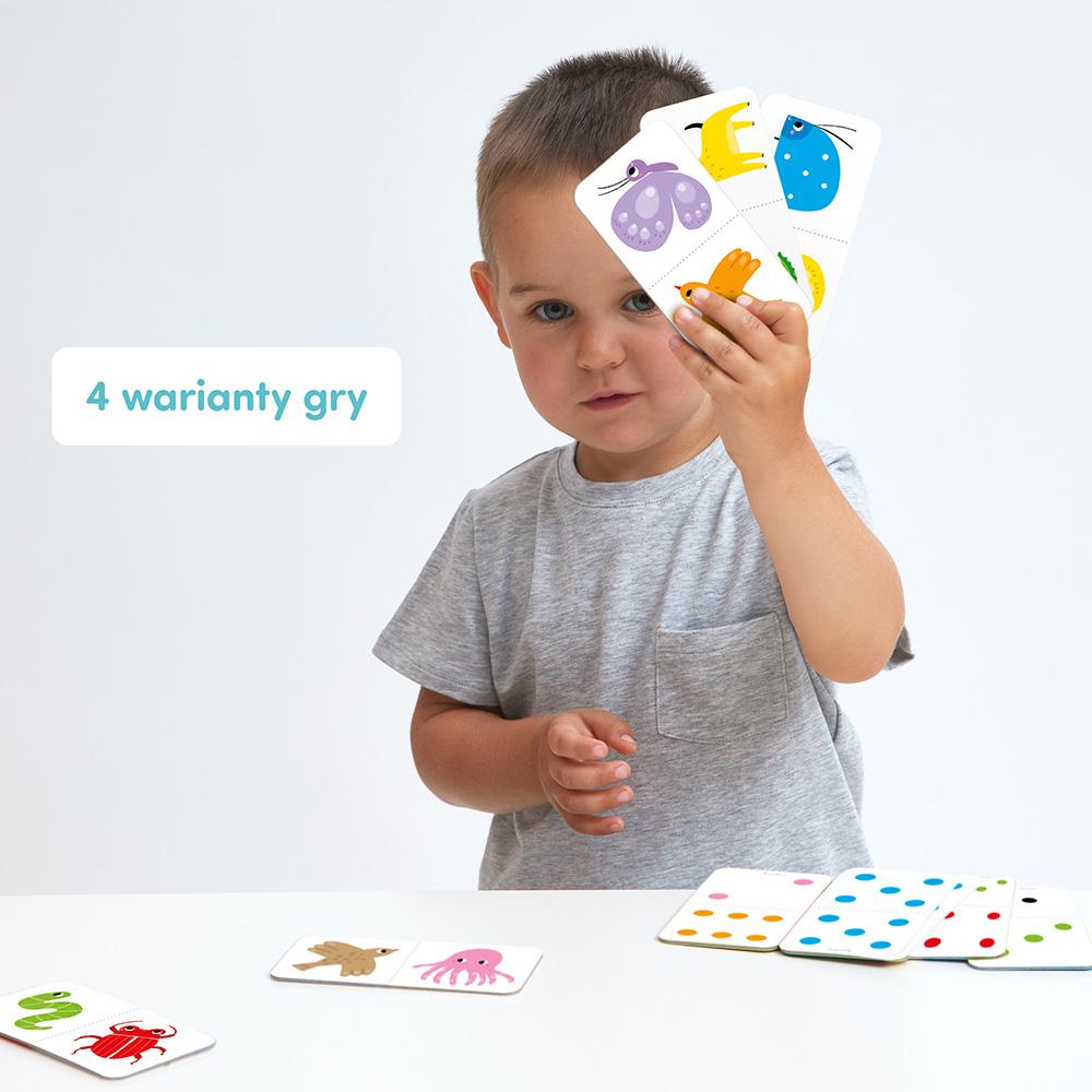 domino dla dzieci na 4 sposoby