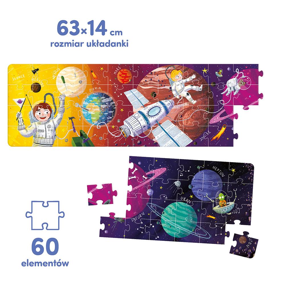 Puzzle panoramiczne Kosmos 60 elementów