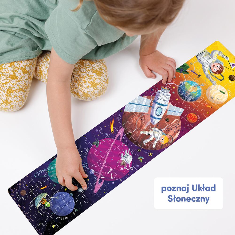 puzzle panoramiczne Układ Słoneczny dla dzieci 4+