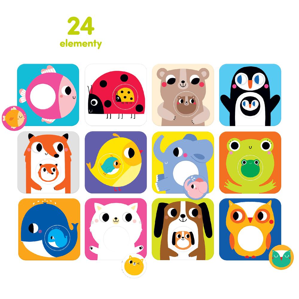 puzzle Maluchy z wymiennymi kółeczkami