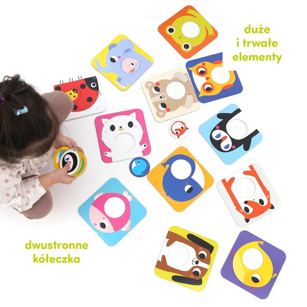 Puzzle z dziurką Maluchy dla dzieci 18 mies