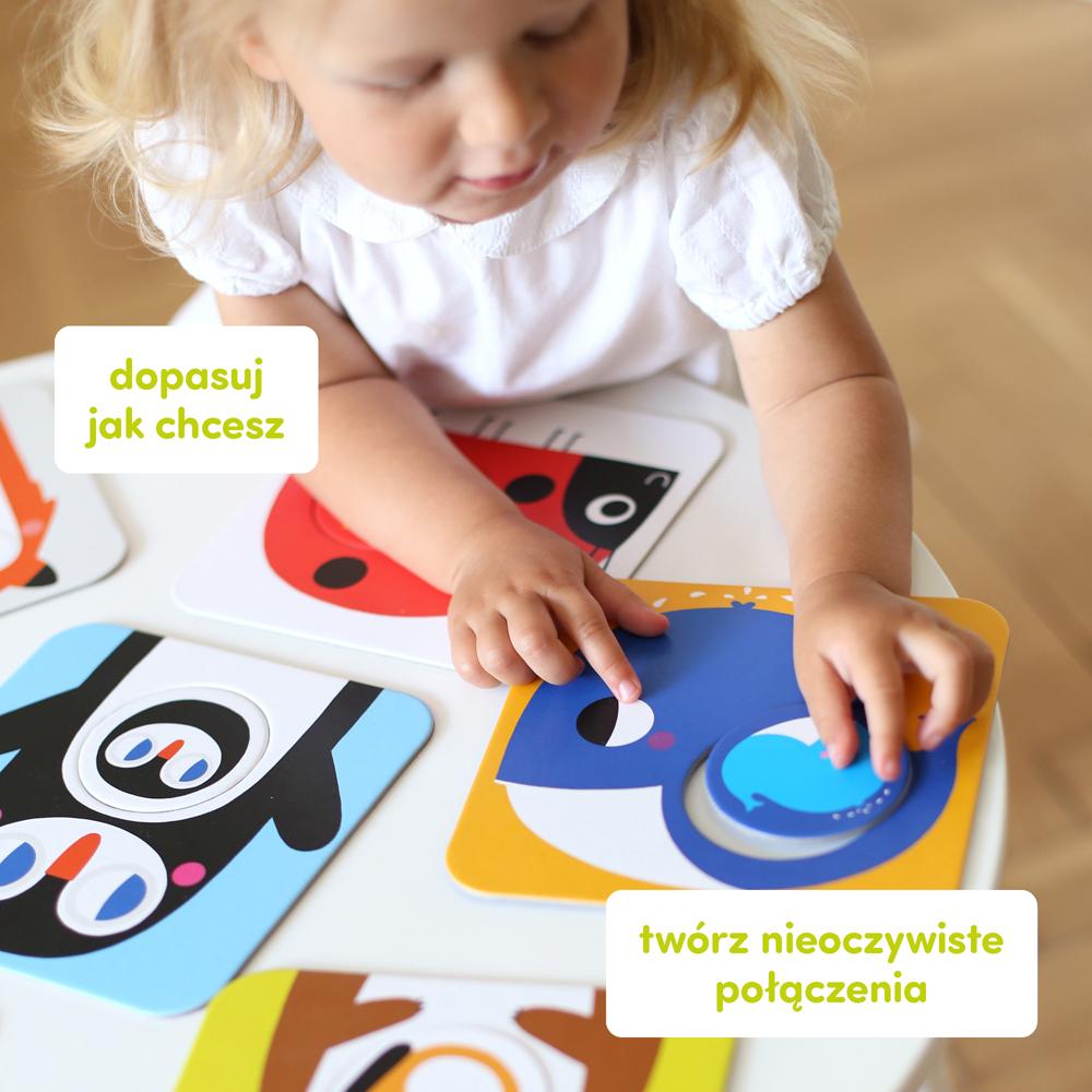 kreatywne puzzle ze zwierzątkami dla maluchów