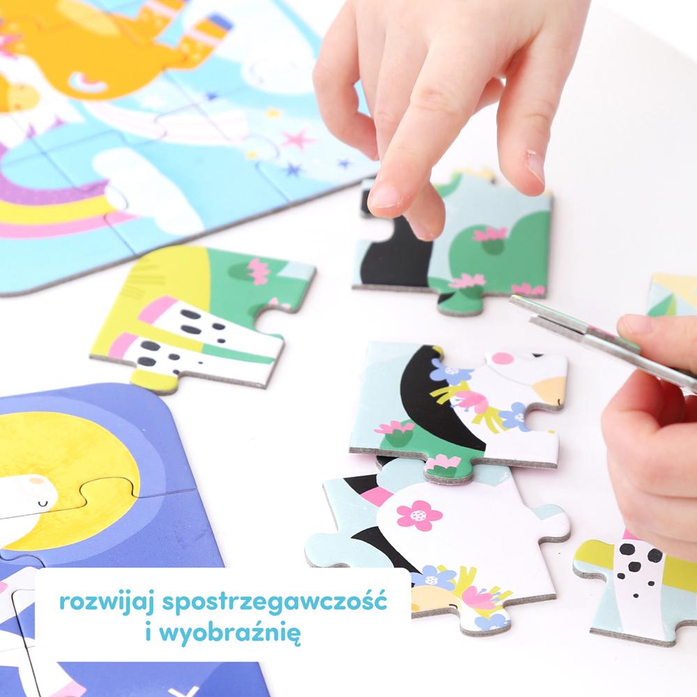 puzzle z konikami