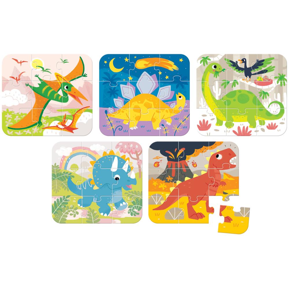 puzzle dla 3 latka dinozaury