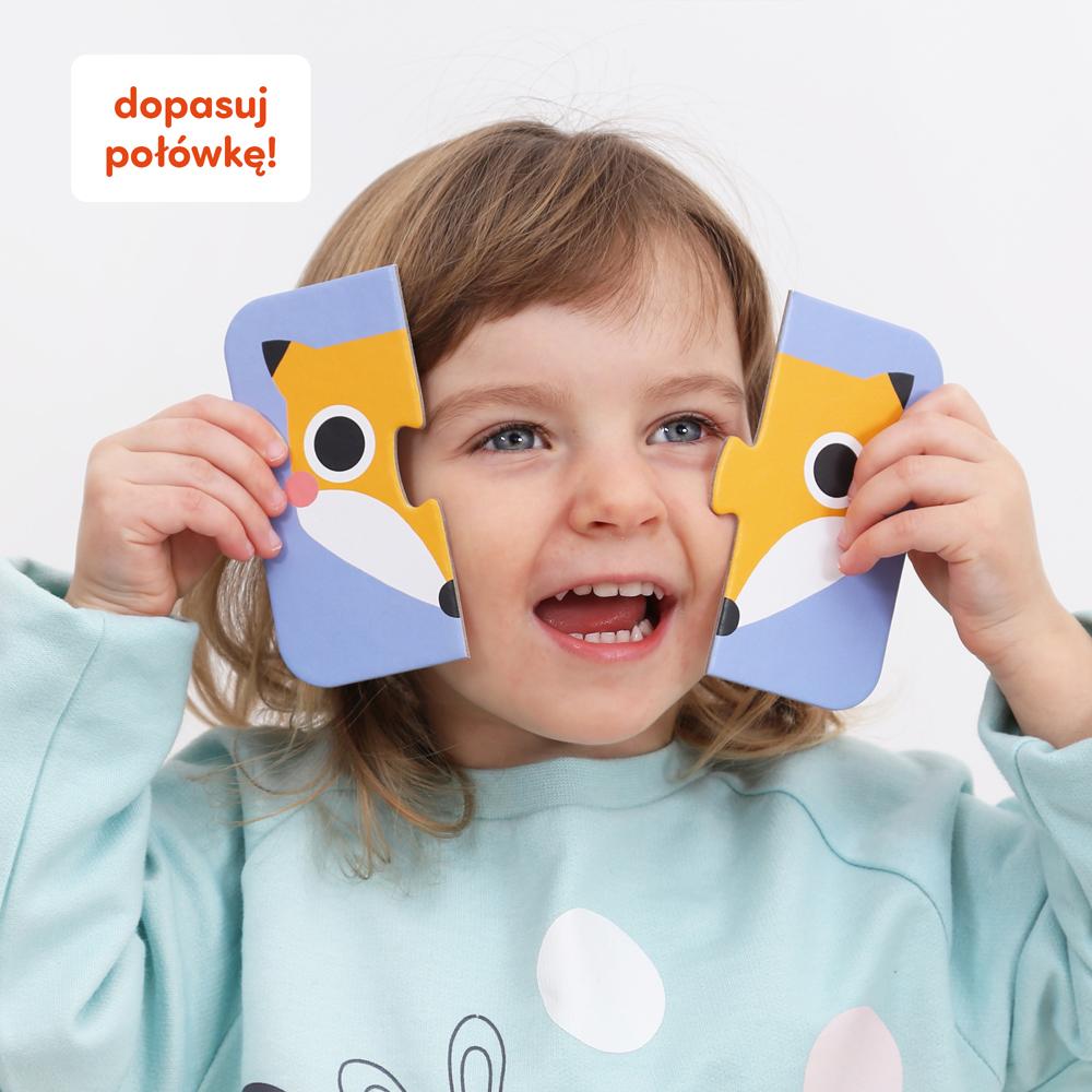puzzle dla maluchów połówki buzie