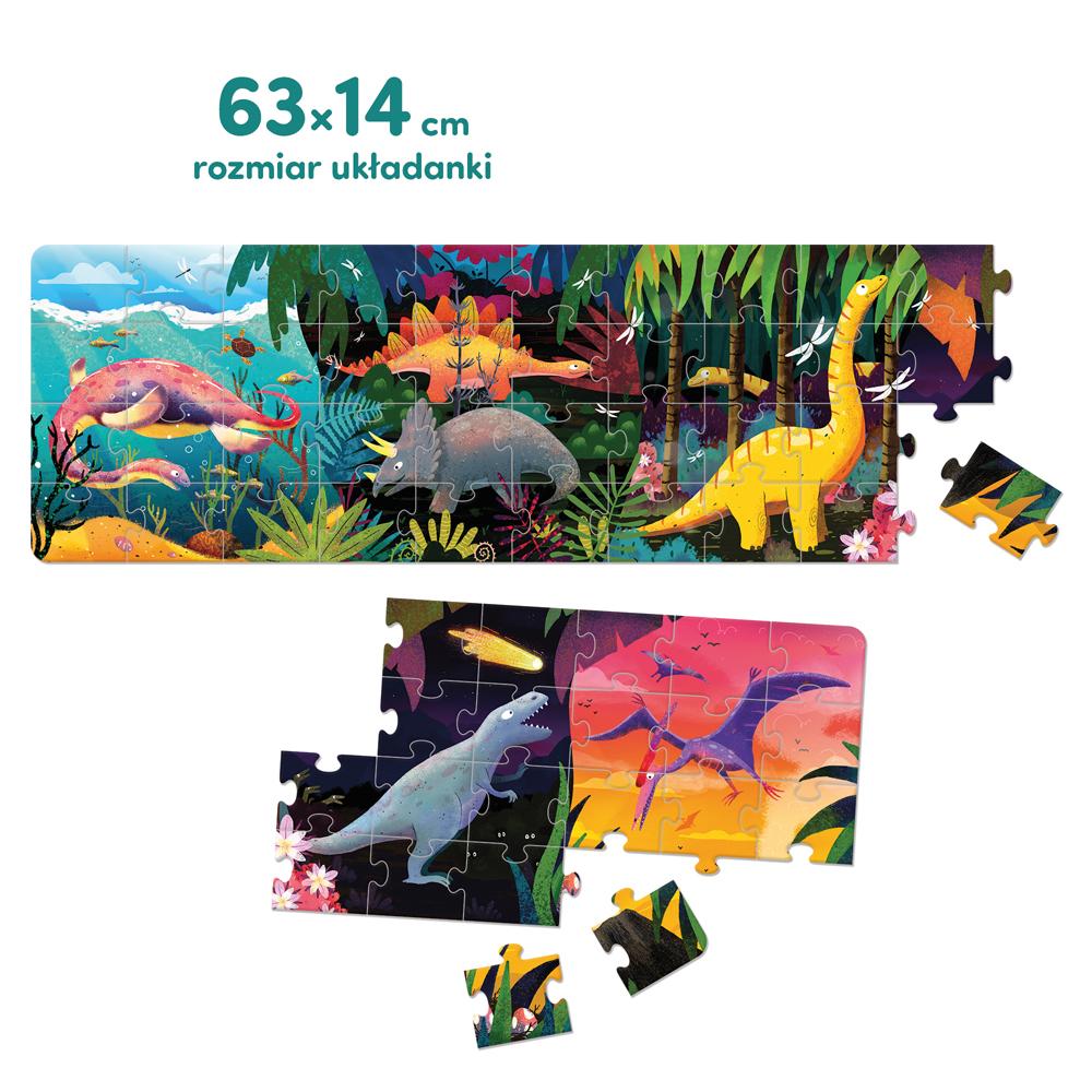 długie puzzle dinozaury tyranozaur triceratops