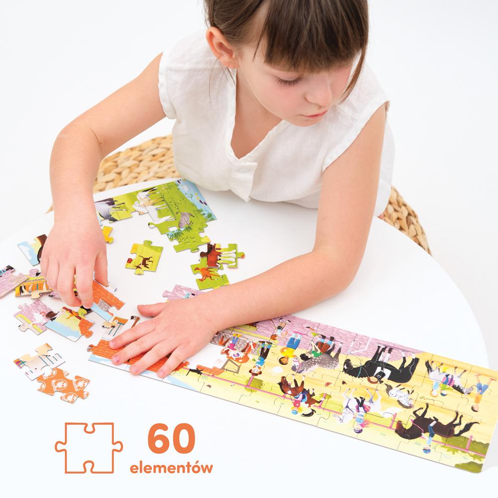 puzzle na podróż konie