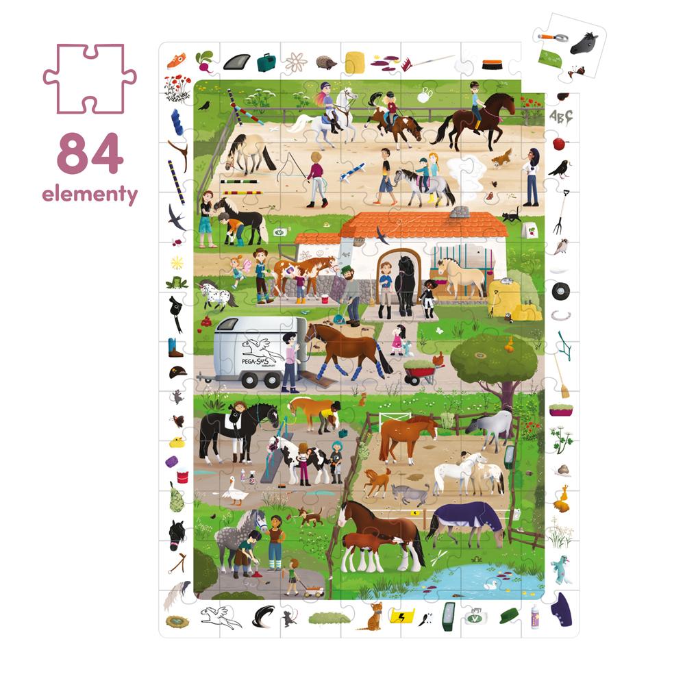 puzzle konie w stadninie 84 el