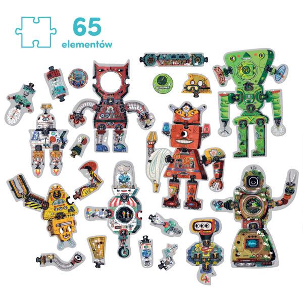 puzzle kreatywne roboty wymienne elementy