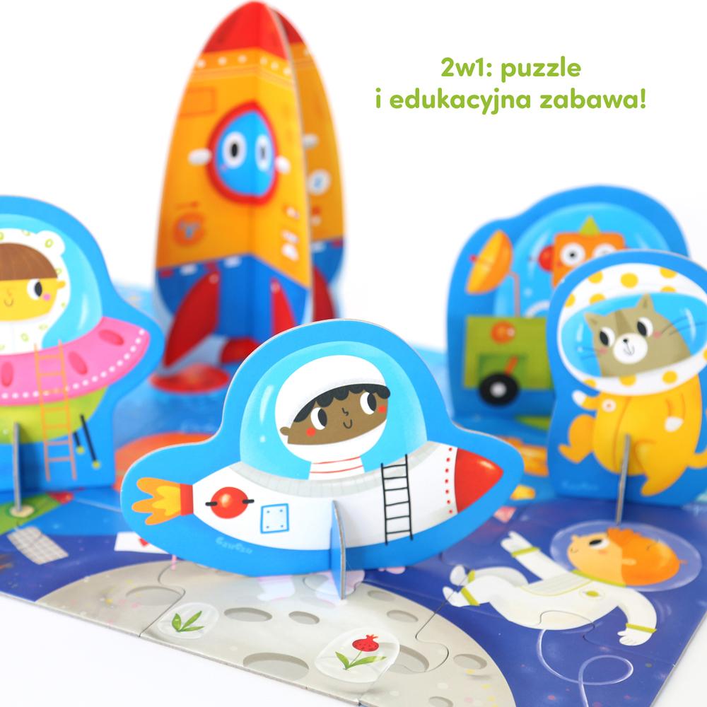 puzzle z figurkami kosmos