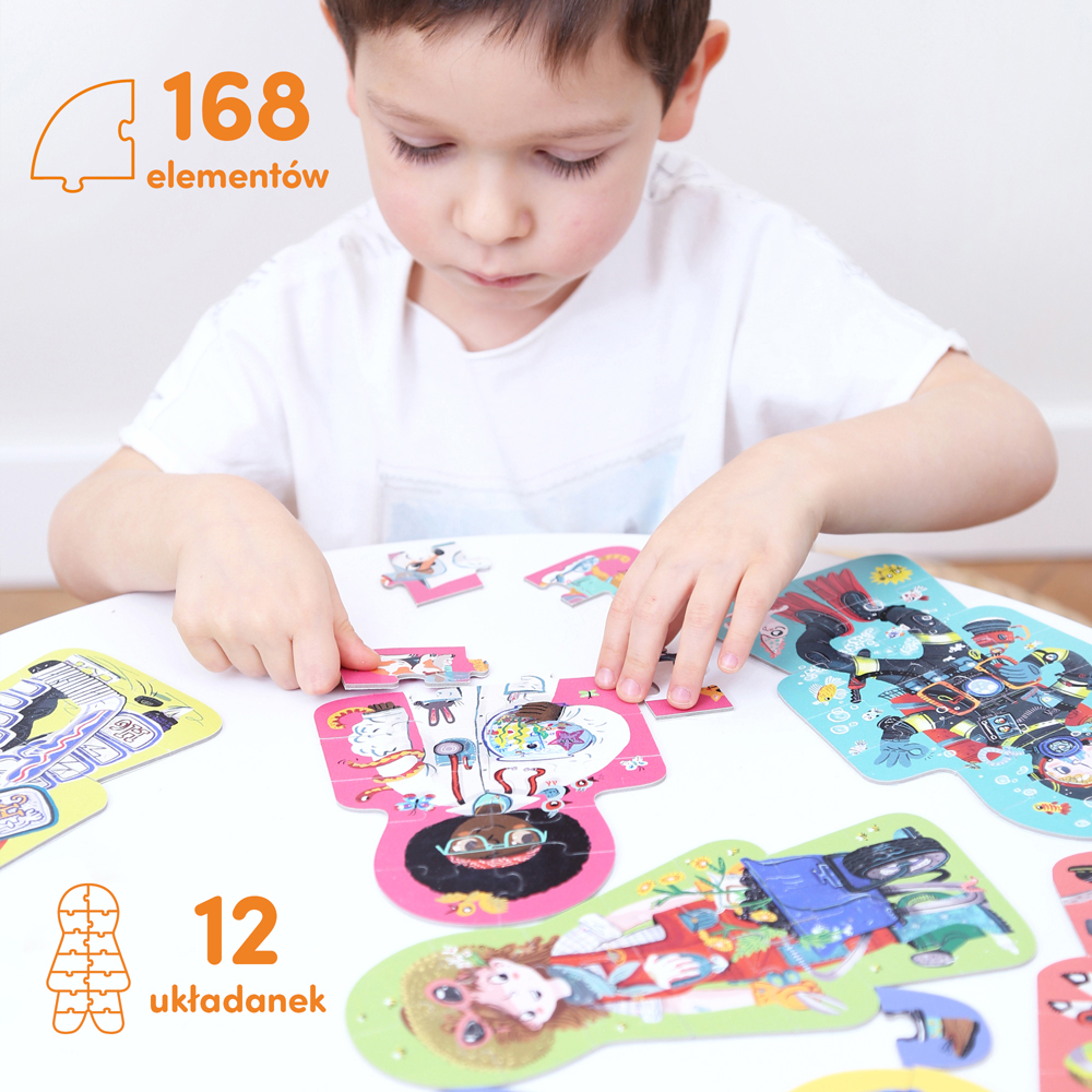 puzzle z zawodami dla 4 latka