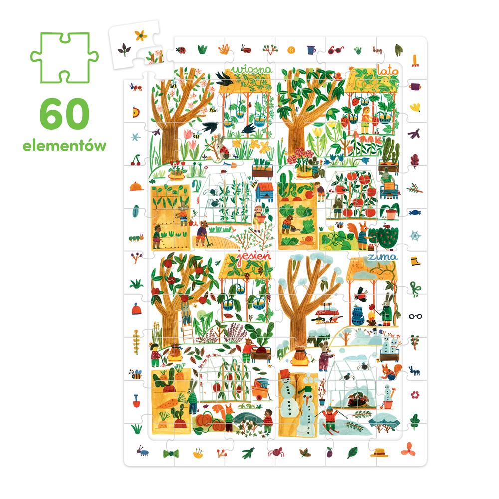 puzzle 60 elementów pory roku