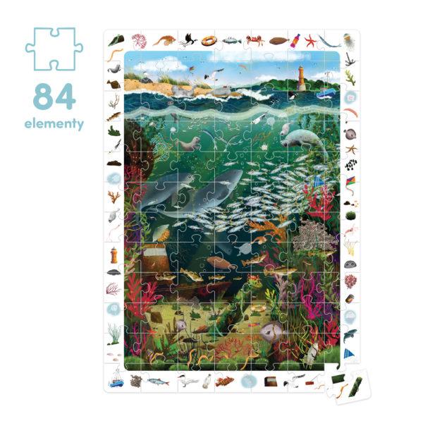 Puzzle dla przedszkolaka Bałtyk 84 elementy