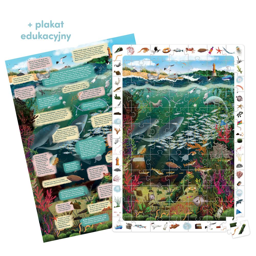 puzzle z plakatem morze Bałtyckie