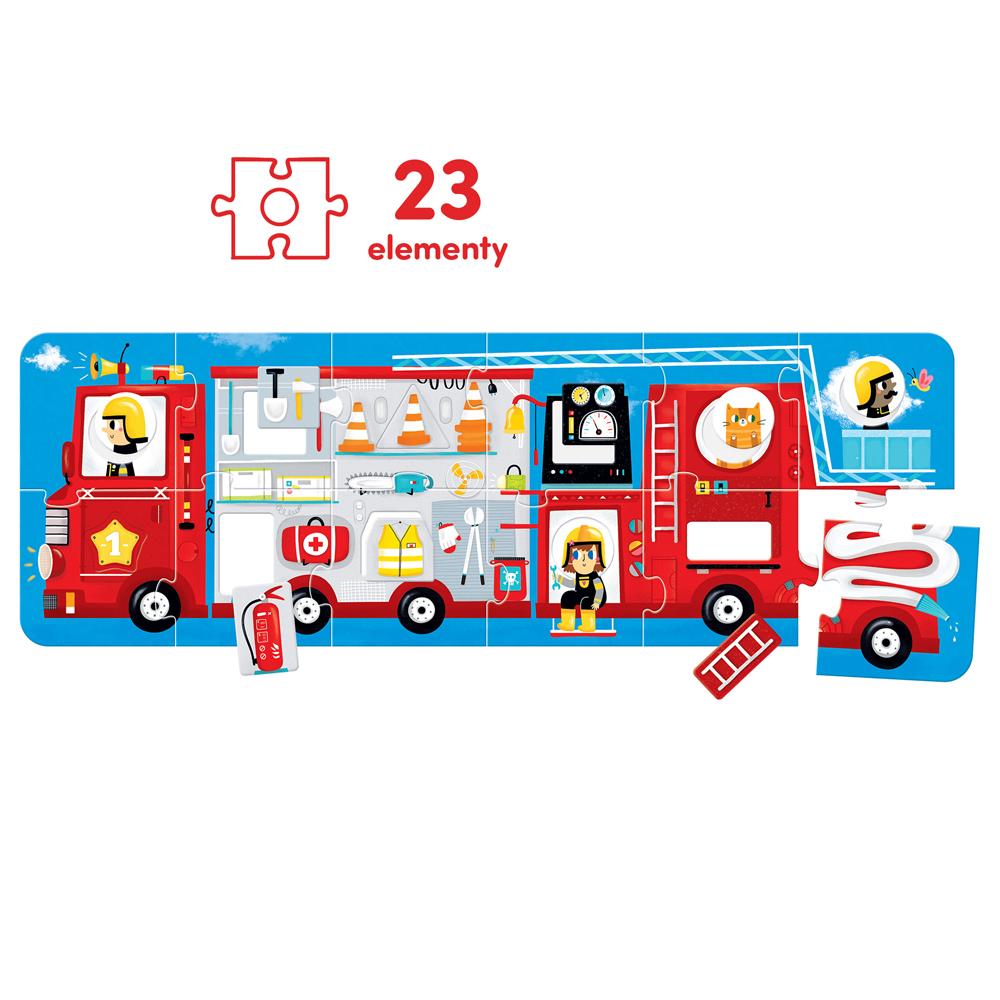 puzzle panoramiczne wóz strażacki