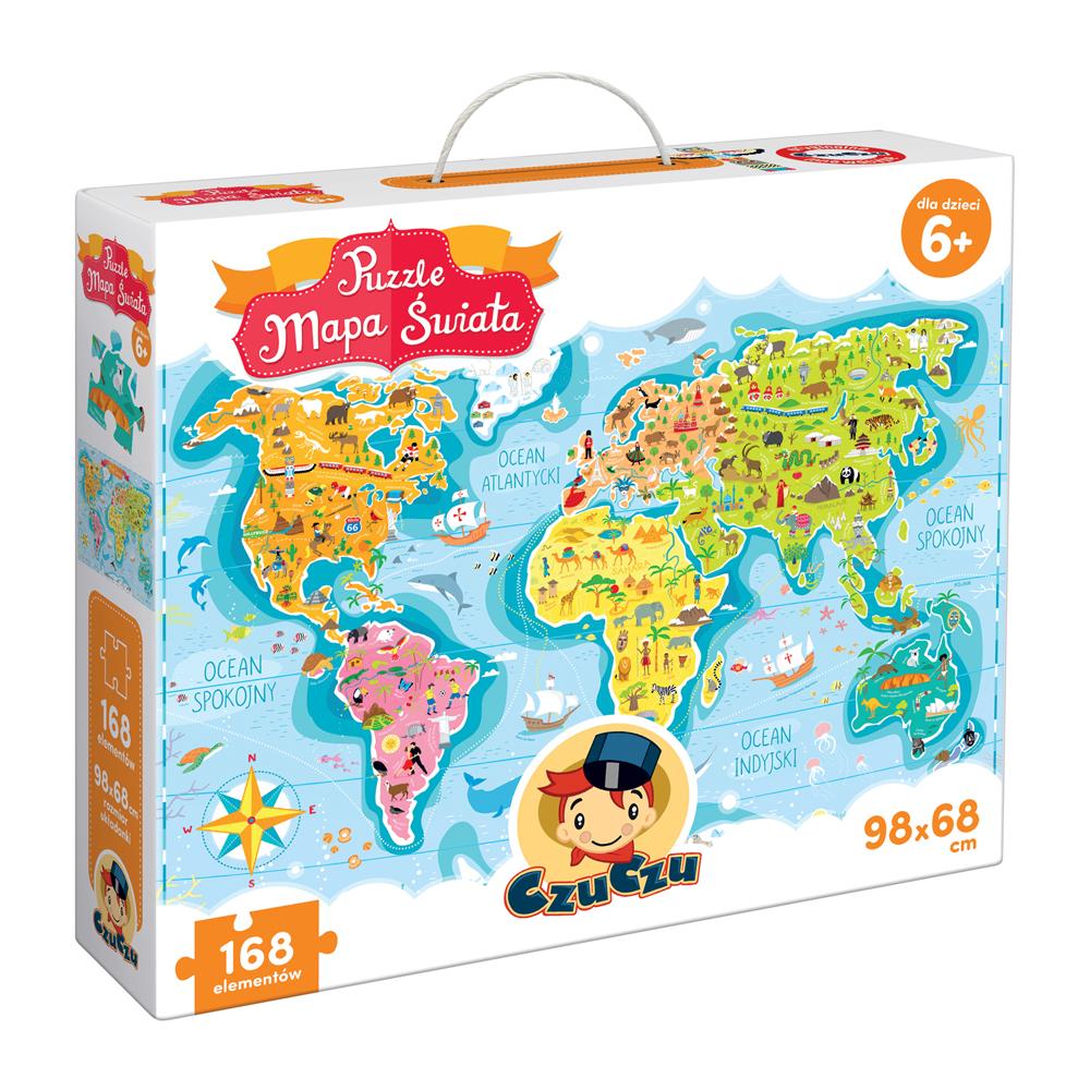 CzuCzu Puzzle Mapa świata 6+