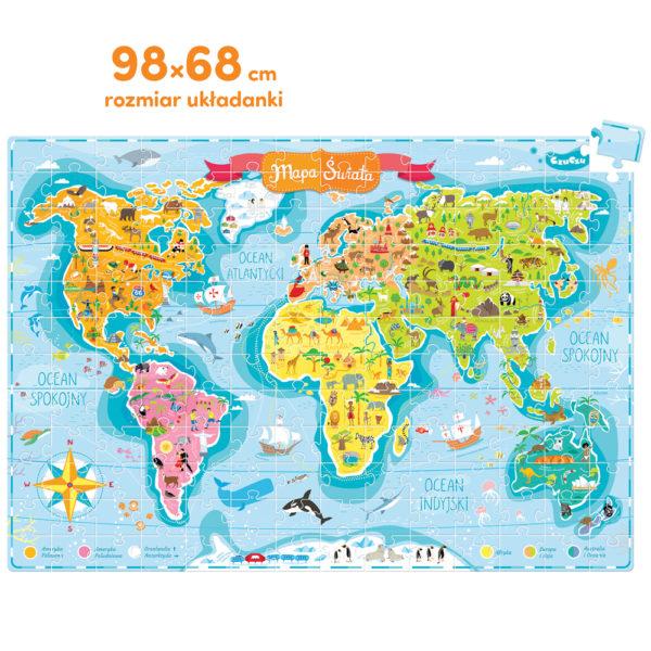 wielkie puzzle mapa świata