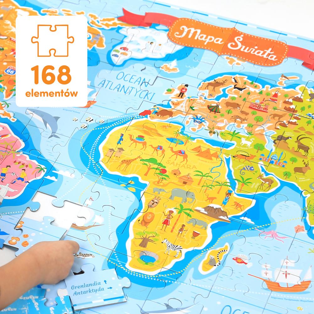 puzzle Mapa świata do zerówki