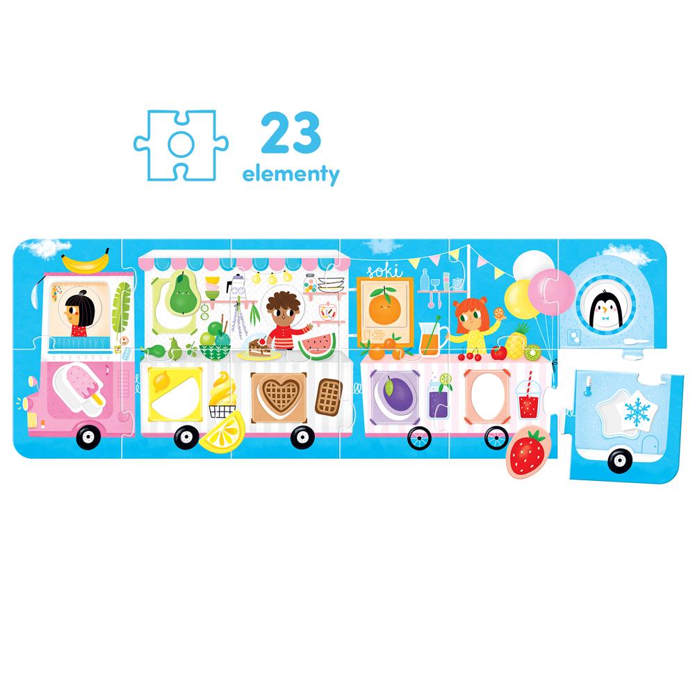 puzzle panoramiczne wóz z lodami 2+