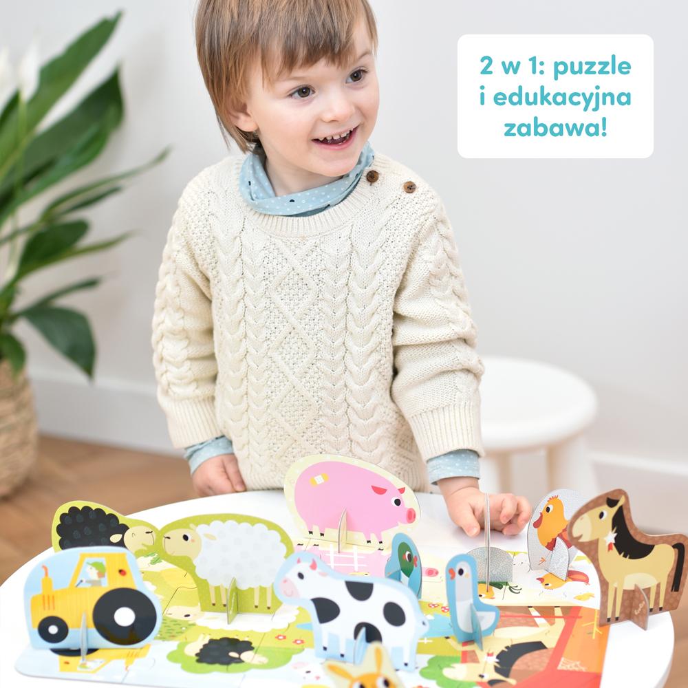 zabawa z figurkami i puzzlami