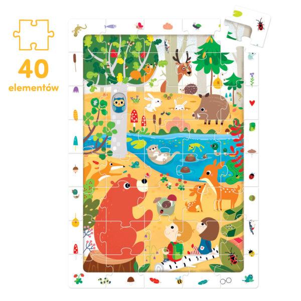 Puzzle las 40 elementów