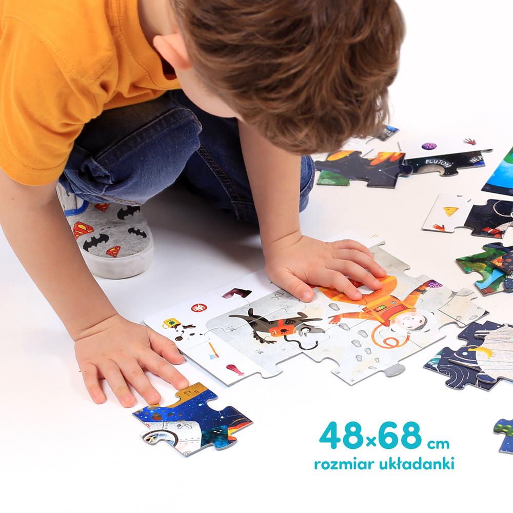 Puzzle kosmos dla dzieci 4+