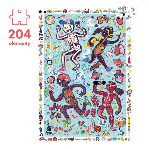 puzzle ciało człowieka 2014 elementy