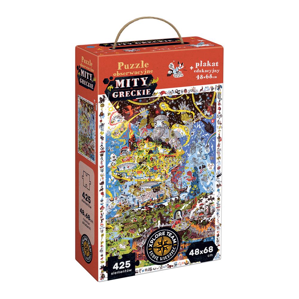 Xplore Team Puzzle obserwacyjne Mity greckie 425 el.