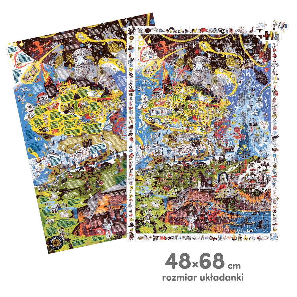 puzzle z plakatem mitologia grecka