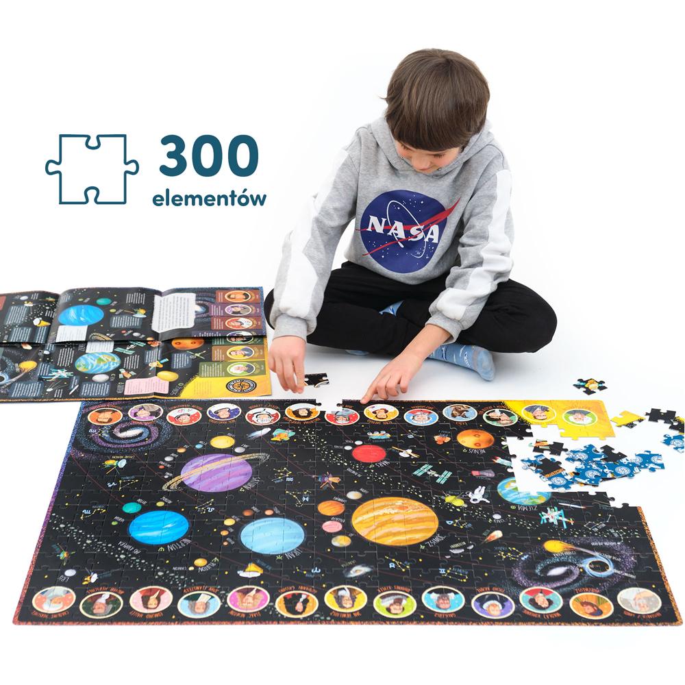 podłogowe puzzle 300 elementów wszechświat