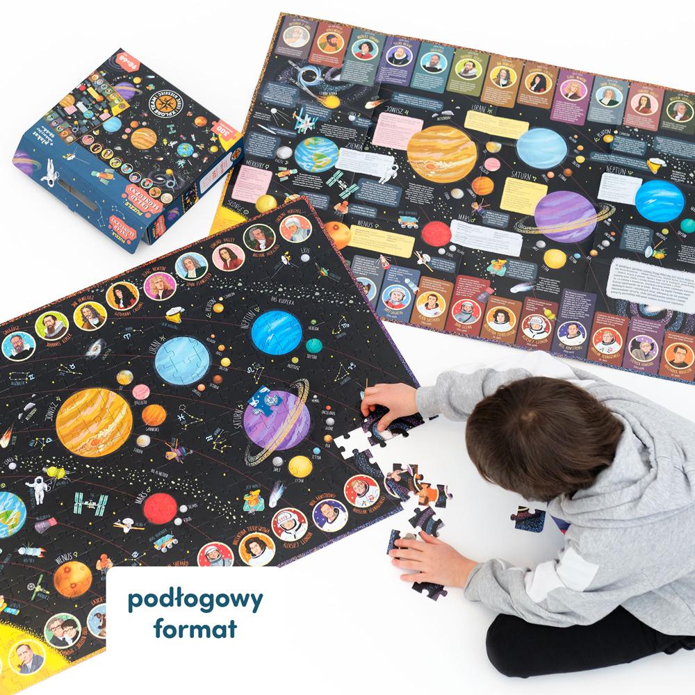 puzzle kosmos + plakat z ciekawostkami