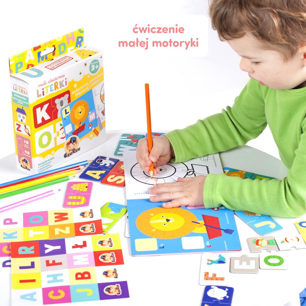 CzuCzu Mała akademia Literki puzzle i książeczka
