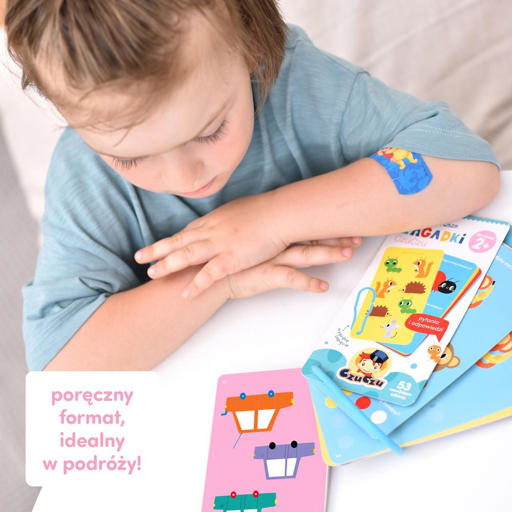 poręczna pierwsza książeczka z zagadkami dla dziecka 2 latka