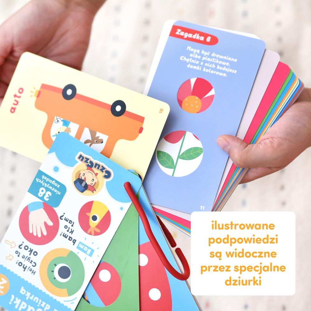 innowacyjna książeczka z zagadkami na zawieszce 2+