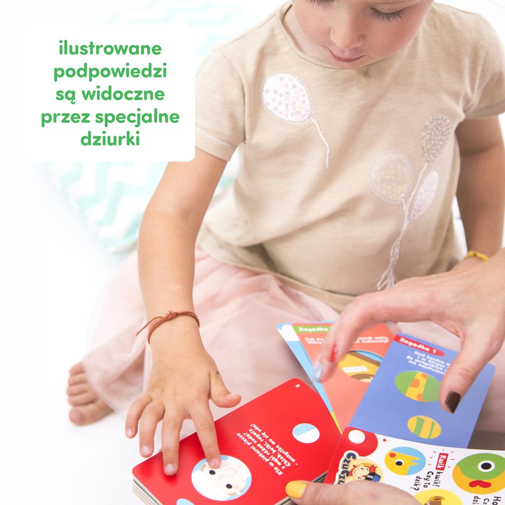 innowacyjne zagadki dla dzieci z kartami z dziurką